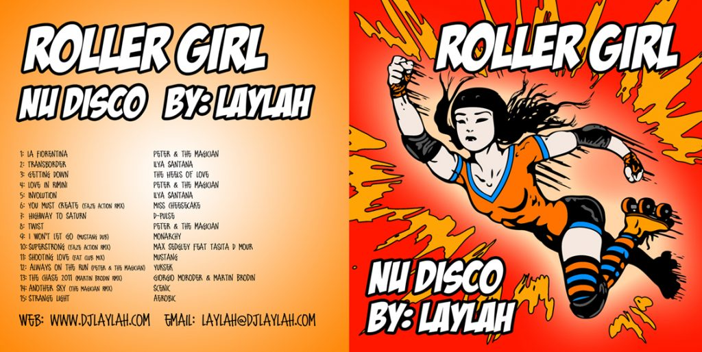 Nu-Disco Roller Girl